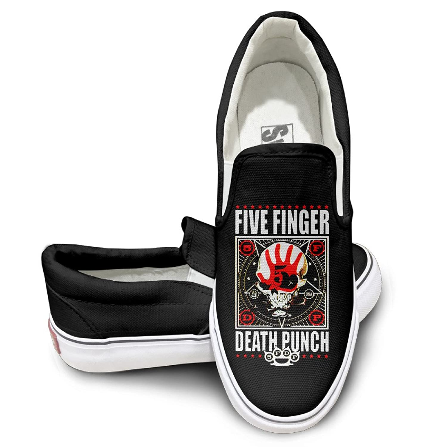 239ba2266480 free shipping Men Women Unisex Casual Five Finger Death Punch Tour Poster  America Sneakers