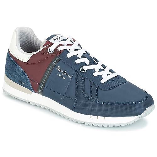 Pepe Jeans Tinker Sterling PMS30509 Zapatillas Azules para Hombre: Amazon.es: Zapatos y complementos