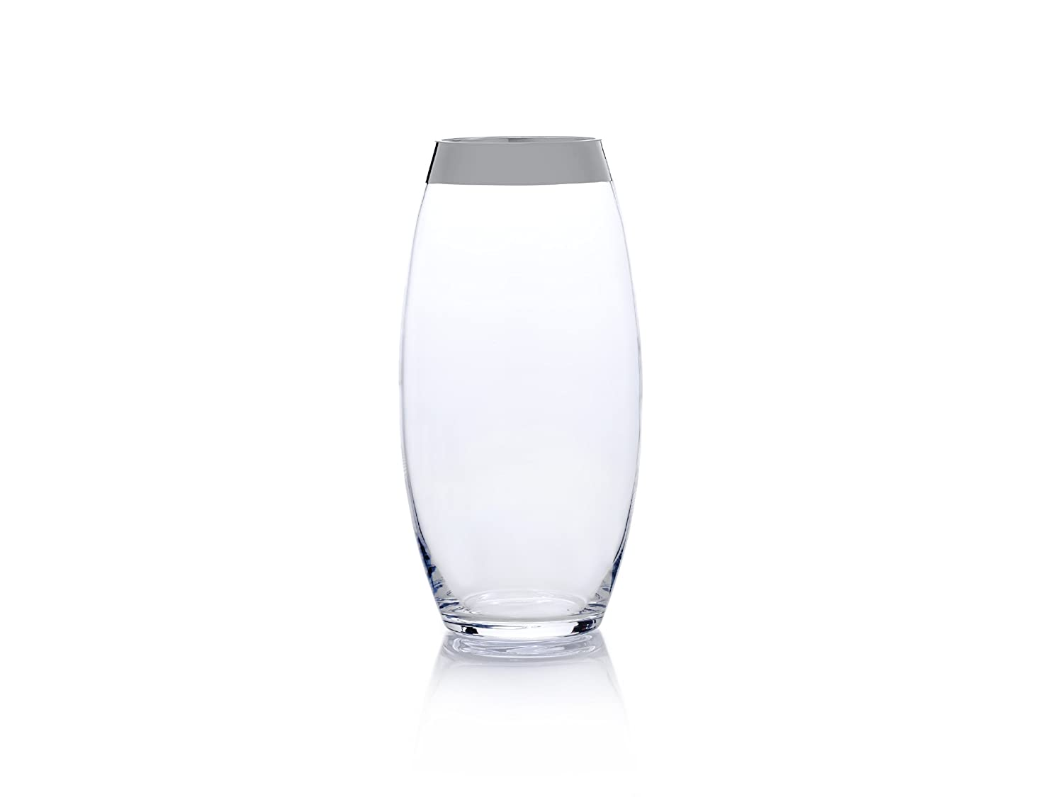 Mikasa Serenity Platinum 13.75-Inch Teardrop Glass Vase Lifetime Brands 5152818