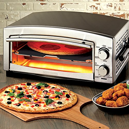 BLACKDECKER-P300S-5-Minute-Pizza-Oven-Snack-Maker-Pizza-Oven-Toaster-Oven-Stainless-Steel