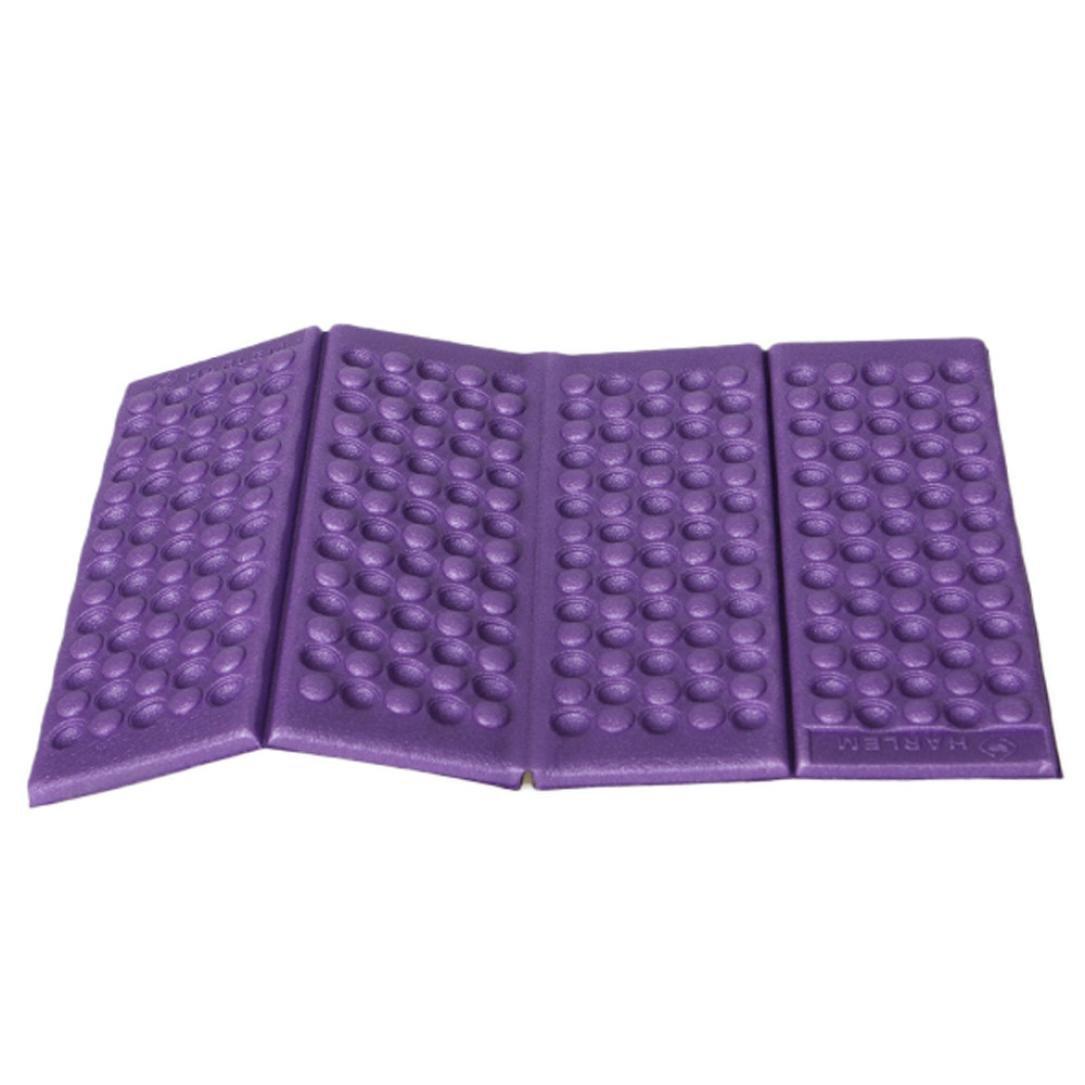 DZT1968 Moisture-proof Folding EVA Foam Pads Mat Cushion Seat Camping Park Picnic (Purple)