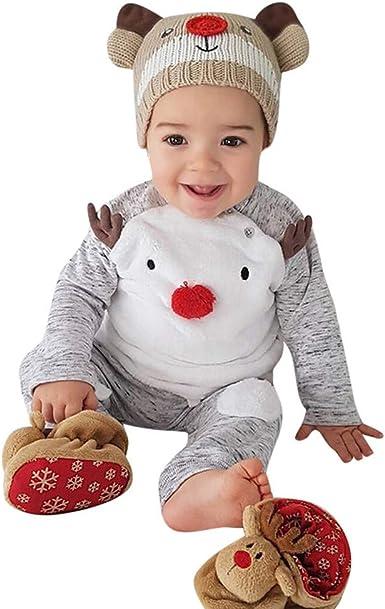 POLP niño Unisex Dibujos Animados de Navidad Reno Bebé recién Nacido Niño Navidad Dibujos Animados Ciervos T Camisa Pantalones Ropa de Abrigo Conjuntos Pijama Traje de Fiesta pantalón 2pcs: Amazon.es: Ropa y