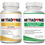 Mitadone Anti-Alcohol Aid & Anxiety/Stress/Mood Support Multi Vitamin Program (150 Count ) Pack