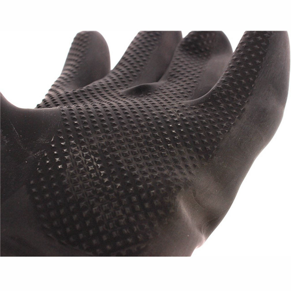60CM Latex Industrial Gloves Lengthened Acid Wear Thick Long Rubber Gloves by Fastrider (Image #4)