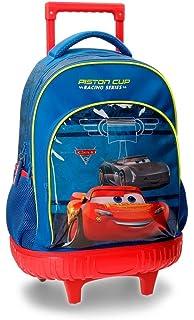 Disney Racing Series Mochila Escolar, 43 cm, 31.65 litros, Azul