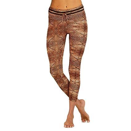 cda05e9076595 Leggings, Women Push Up Vintage Printing Fitness Running Skinny Fashion  Yoga Pants (S,