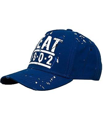 da9ff2446cf4 DSQUARED DSQ2 Garbadine Baseball CAP S15BC 4007 3085 Blue Blu-Beat DSQ2  PUMP UP THE