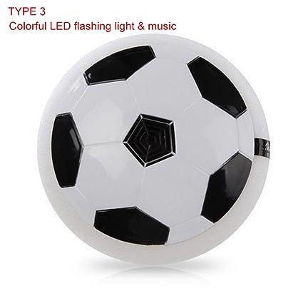 EBILUN Disco de fútbol luz LED Colorida para Uso en Interiores o ...