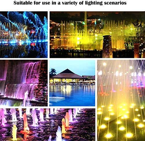 HKYMBM Embedded LED Poolbeleuchtung, 9W/12V Lampe für Inground Swimming Pool, RGB Farbwechsel Wasserdicht Splash LED-Birnen-Installations Embedded