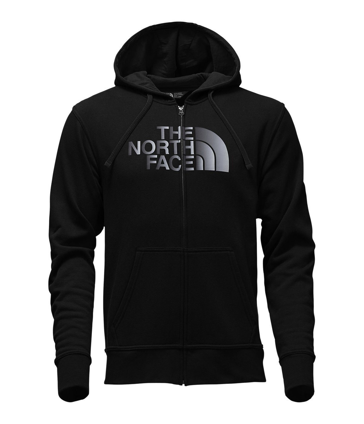 The North Face Half Dome Full Zip Hoodie - Men's TNF Black/TNF Black Reflective Large