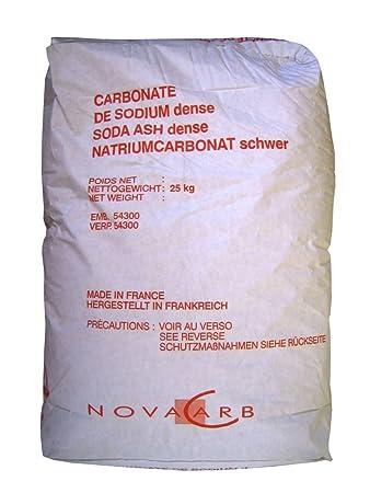 fc6f1ae517bc0 Natriumcarbonat Waschsoda schwer Waschkraftverstärker Soda pur 25 kg  Papiersack Na2CO3