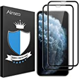 Alinsea Screen Protector for iPhone 11 Pro Max/iPhone Xs Max [2 Pack] [Case Friendly, Full Coverage] 3D Tempered Glass [Face
