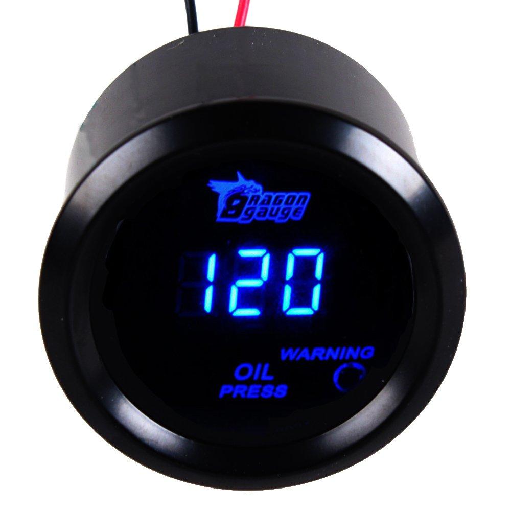 Supmico 52mm Car Motor Digital Blue LED Light Display Volt Voltage LED Gauge Meter