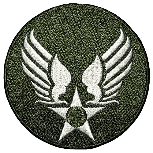 (US Air Force Army Military Jacket Vest Star Wing Sew Iron on Logo Emblem Embroidered Badge Sign Costume Patch - OD Olive Drab (US-AIR-FORCE-WING-OD))