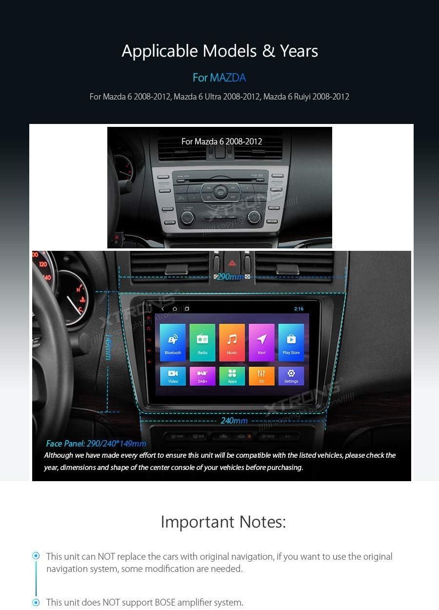 XTRONS - Radio para coche con pantalla táctil de 9 pulgadas ...