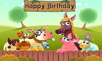 Amazon.com: AOFOTO - Fondo de cumpleaños para fotografía ...