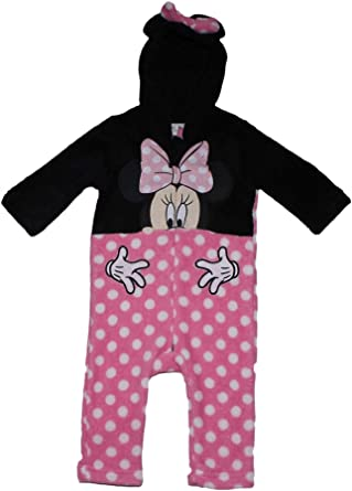 3204acc865ad Disney Official Minnie Mouse Baby Girls All in One Onesie Coral ...