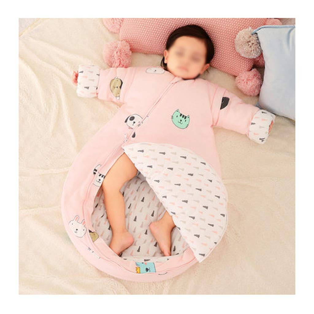 Sleeping bag LAOSUNJIA Cotton Baby Baby Four Seasons Anti-Kick (Color : B, Size : 90 Yards)