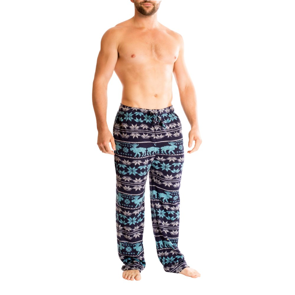 Bottoms Out Men's Designer Comfortable Unique Sweater Fleece Pajama Sleep Lounge PJ Pants for Men