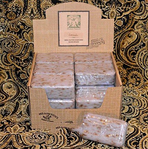 Case of 18 Pre de Provence Lavender Bud 150 gram shea butter large soap bars