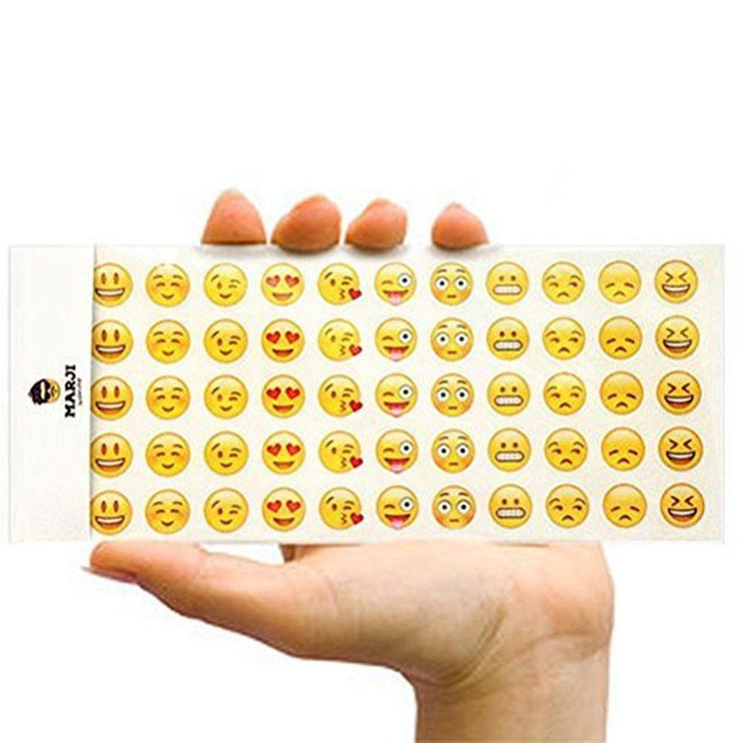 Happy Emoji Stickers 12 Sheets with Same Faces Christma Kids Stickers from iPhone Facebook Twitter HighMount 00