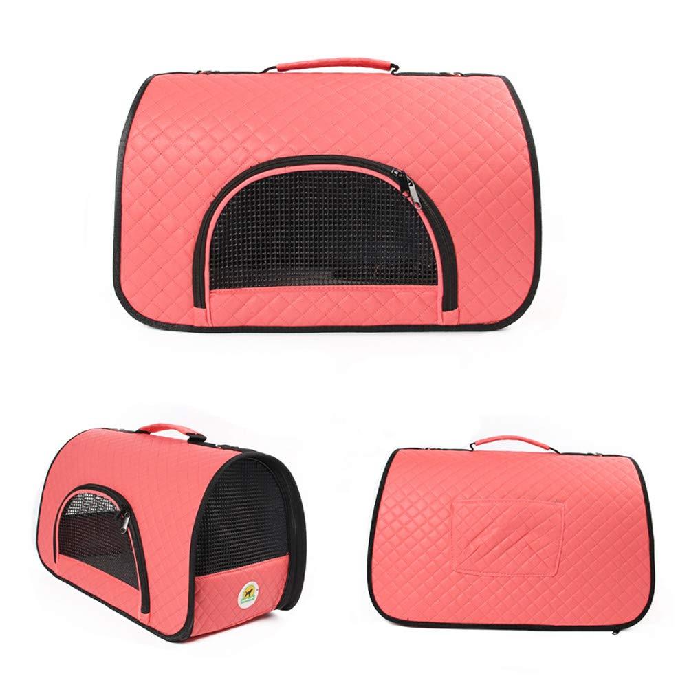 orange L orange L Pet Carrier Animal Travel Bag Dog Cat Carrier Backpack Pet Puppy Outdoor Tote for Traveling Hiking Camping (color   orange, Size   L)