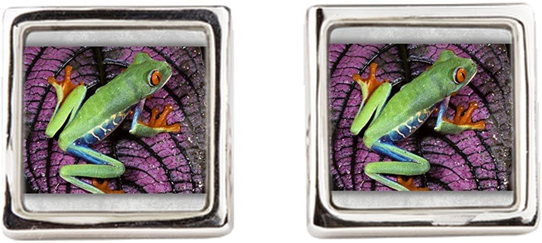 Royal Lion Cufflinks Square Red Eyed Tree Frog