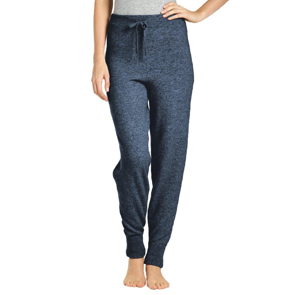 Parisbonbon Women's 100% Cashmere Jogger Pants Color Demin Blue Size XL by Parisbonbon