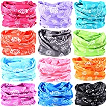 16 in 1 Wide 6pcs Assorted Seamless Headbands for Men/Women Athletic Moisture Wicking Headwear for Sports Cycling Arm Band Hiking Climbing,Bandana Headwrap Scarf Neck Gaiter Turban Mask