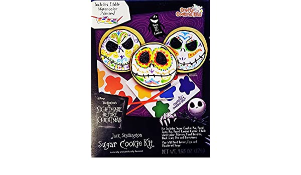 Amazon.com : Nightmare Before Christmas Jack Skellington Sugar Cookie Kit - 9.68 Ounce : Grocery & Gourmet Food