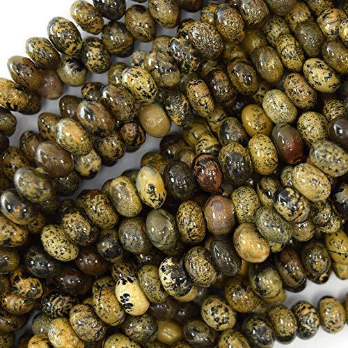 8mm Brown chohua Jasper rondelle Beads 15.5