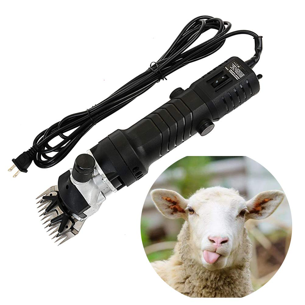 320W Professional Heavy Duty Electric Shearing Clippers, Goat Shears Grooming Shearing Clipper, 6 Adjustable Speed, Pet Grooming Trimmer