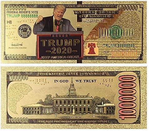 HENGTONGTONGXUN 10個入り2020米国のドナルド・トランプ記念コイン社長紙幣以外の通貨1ミリオンダラー金箔ビル・コレクションギフトA 使いやすい (色 : A)