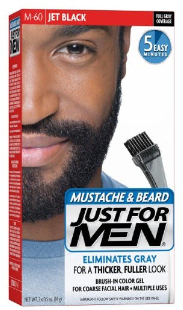 JUST FOR MEN Color Gel Mustache, Beard & Sideburns 115 Jet Black 1 Each (Pack of 11)