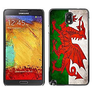 Shell-Star ( National Flag Series-Welsh ) Snap On Hard Protective Case For Samsung Galaxy Note 3 III / N9000 / N9005