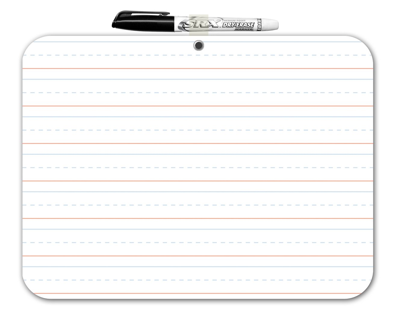 Amazon.com : Board Dudes Double Sided Dry Erase Lapboard 9 X 12 Inches  (DFB52) : Office Products  Lined Paper With Drawing Box