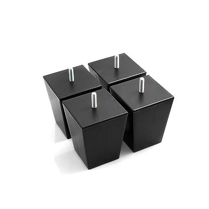 Design61 Juego de 4 patas para muebles, para sofá, patas para muebles, patas para atornillar, 100 mm