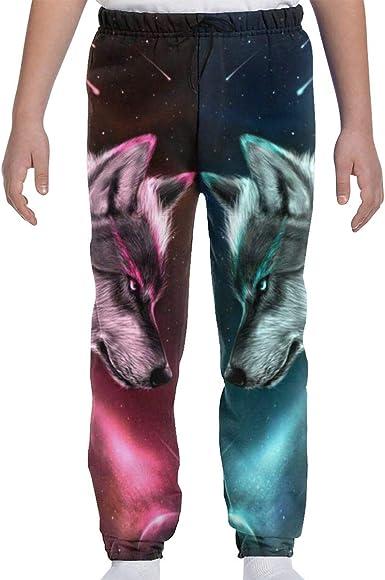 Children Boy Cotton Thick Pants Sports GYM Elastic Waist Trousers Fleece Casual