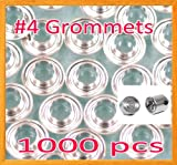 1000 #4 1/2'' Grommet and Washer Nickel Eyelet w/ Die Set Grommets Machine Sign Punch Tool