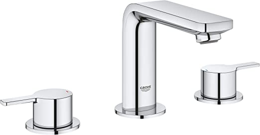 Grohe 2057800A Lineare M-Size Bathroom Faucet with Fixed Spout, StarLight  Chrome