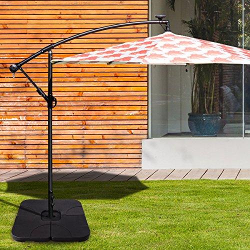 Giantex 20'' Patio Offset Umbrella Base Stand Sand/Water Filled Base 4-Pieces Plates Outdoor Garden Beach Backyard Umbrella Bases (Square Base) by Giantex (Image #2)