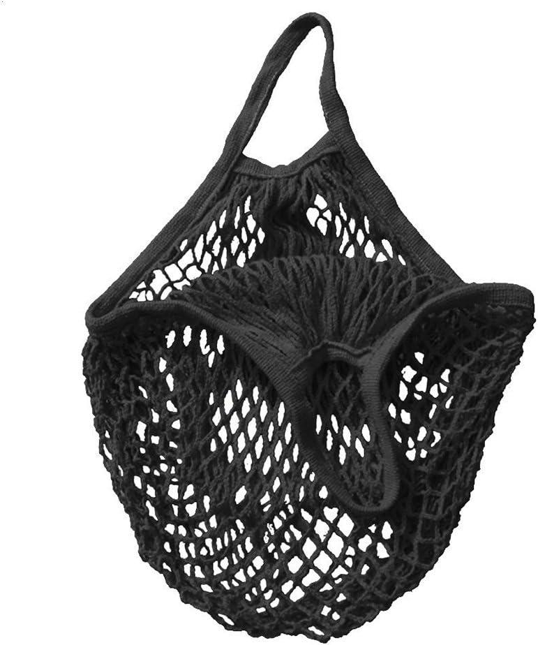 UEETEK Bolsas reutilizables mercado cadena bolsa playa bolsos de compras de malla (negra)