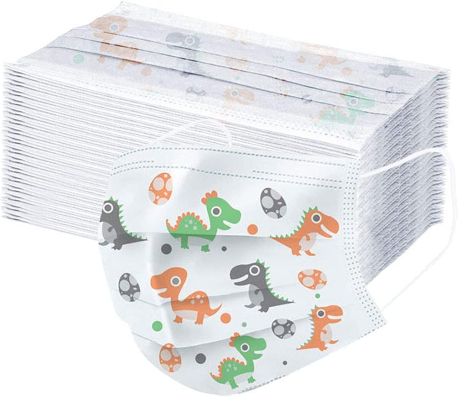 3-Ply Breathable /& Comfortable Filter 50 Packs Disposable Face Macks Bandanas For Home Office