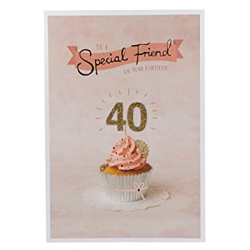 Hallmark 40th Birthday Card For Friend Celebrating You Medium