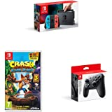 Nintendo Switch Neon with Crash Bandicoot N. Sane Trilogy + Pro Controller