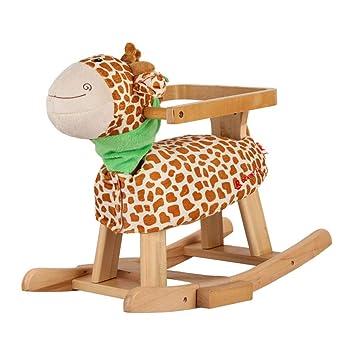 Caballitos de madera Silla mecedora para niños mecedora para niños mecedora habitación infantil Juguete troyano sala