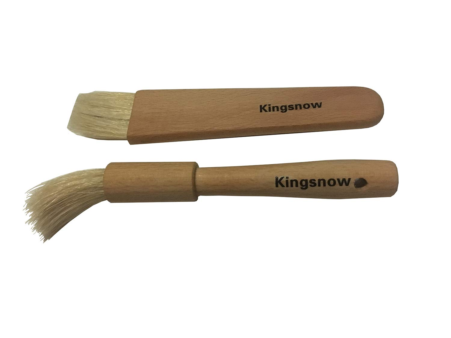 Kingsnow Wood and Pure Bristle Pastry Brush, Bakeware Range Pastry Brush, Wood and Natural Basting/Pastry Brush Set by Kingsnow