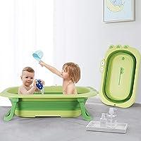 Baby Bathtub, 2021 Foldable Infant Shower Basin, Lightweight Portable Toddler Washing Tub, Space Saving Pet Newborn Bath…