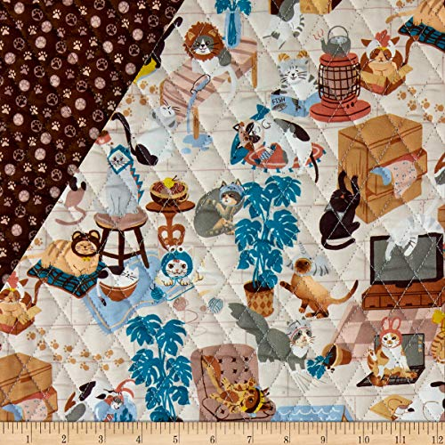 Paintbrush Studio Fabrics Hats for Cats Quilted Fabric Multicolored Fabric by the Yard