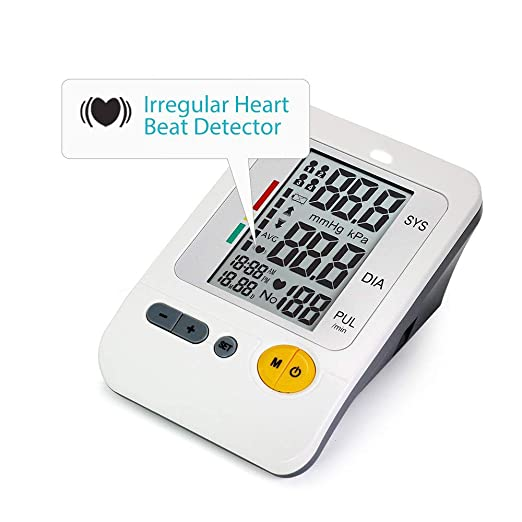 Amazon.com: Automatic Blood Pressure Monitor Upper Arm Large Cuff, 4-User Mode Electronic BP Monitor Portable Digital Sphygmomanometer (FDA Approved) AC ...
